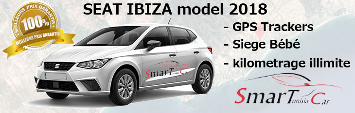 location seat ibiza 2018 Tunisie